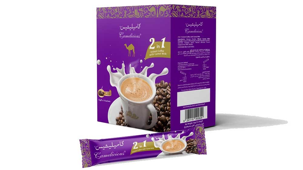 2 in 1 Instant Coffee with Camel Milk